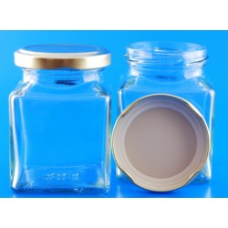 190ml Square Jar with Lids...