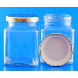 270ml Square Jar with Lids...