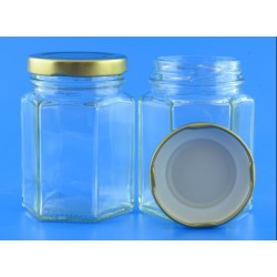 110ml Hexagonal Jars with...