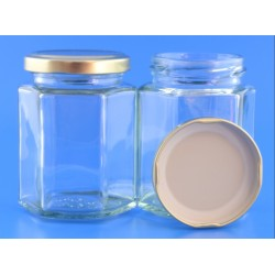 190ml Hexagonal Jar with...