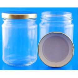250ml Round Jar with Lids x 12
