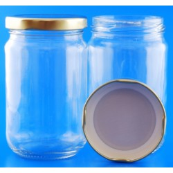 300ml Round Jar with Lids x 12