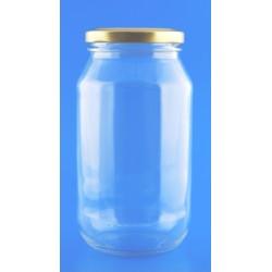 500ml Round Jar with Lids x 6