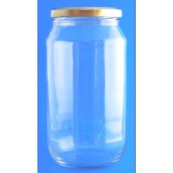 1 Litre Round Jar with Lids...