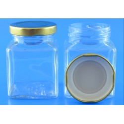 110ml Square Jar With Lids...